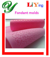 Wholesale Fondant mold Lace flower mat Cake mold stand Bakeware embossing pad cookie Maker Decorator styling tools flowers stars sets edible silicone