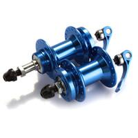 Wholesale Pair Bicycle Bike Mountain MTB Disc Brake Hub Set Hole Metal Blue