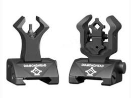 Diamondhead DIAMOND Combat Flip-Up Rear & Front Sight Folding Iron Sights for Drop-In Free-Floating Handguards Picatinny Rail