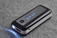 Cheap 5600mah Portable USB External battery charger Power bank banks with flashlight 5600 mah Supply for smartphone iphone 4 5 6 plus samsung all