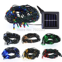 Wholesale 12M RGB Led Solar Power Fairy Light String Lamp Party Xmas Garden Decor Outdoor Waterproof