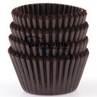 Wholesale tart cake chocolate paper cases cupcake Brown total Diameter is cm box