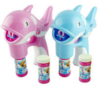 Cheap Fully-automatic the dolphin bubble machine musical bubble gun battery bubble water