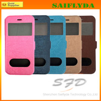 Wholesale Flip Cover View Window mobile phone leather case for iphone iphone plus quot leather case