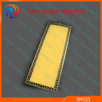 Cheap golden sublimation metal bookmark blanks DIY sublimation products material 100pcs metal bookmark for heat transfer photo print