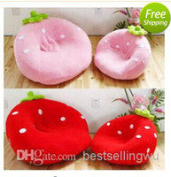 Wholesale Comfortable Cartoon Seat Cushion Sofa Cute Strawberry Shape Cushion For Adults and Children New arrival Home Textile
