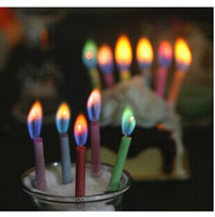 Cake custom party Christmas candle color flame birthday cand...