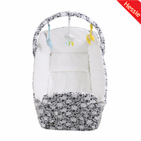 Cheap Hessie Brand New 2014 Baby Detachable Washable Crib Baby Foldable Bed With Activity Plush Toys and Pillow Free Shipping By DHL
