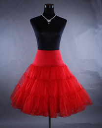 Free Shipping 2019! Cheap Multi Color Petticoat Red Petticoats 5 Colors Crinoline Underskirt Hoopless Slip for Short Dresses Stunning