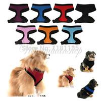 air free dog clothes - Sizes Colors Pet Dog Puppy Soft Air Mesh Adjustable Vest Comfort Harness Braces Clothes Leash