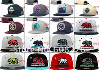Cheap NEW ARRIVAL!Pink Dolphin snapback hats,California Republic Collection snap backs,free shipping mix order 12 pcs lot wholesale .