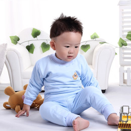 Wholesale Baby thick underwear sets baby long johns baby thermal underwear Winter baby underwear