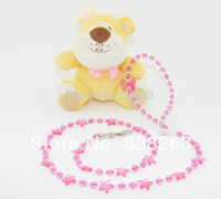 beaded dog leads - New fashion traction rope Pet beaded leash Pure handmade wire line with beads Dogs fastness leading Pink color