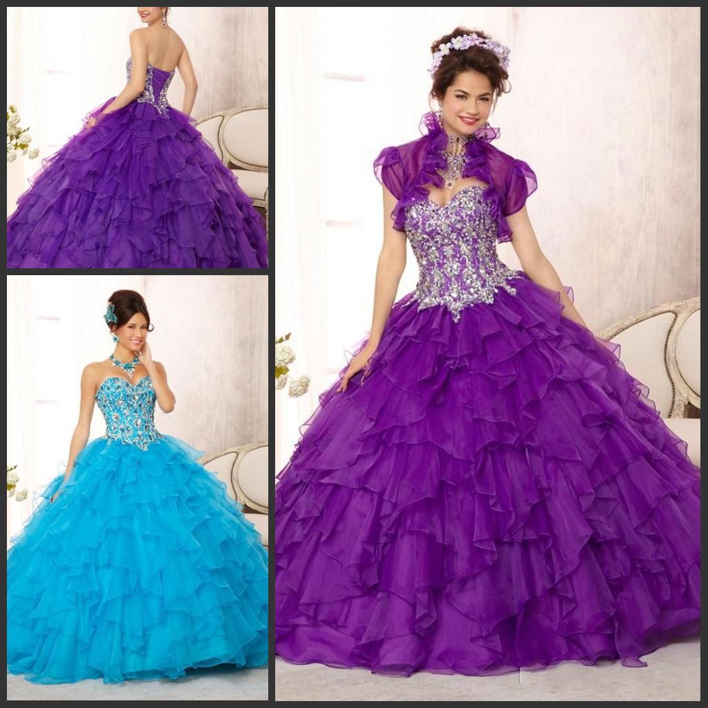 Purple Sky Blue Quinceanera Dresses 2015 Special Occasion Dress ...