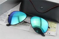 Wholesale 1pair Brand Mens Womens Large Metal Classic Sunglasses Designer Glasses Black Mirror mm Lens