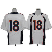 Cheap #18 Manning White Elite American Football Jerseys Cheap and High Quality Stitched Foodball Uniform Sportswear 2014 New Season Hot Sales