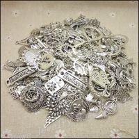 Free shipping!Hot 40- 80 type Tibetan silver charm Mixed 100g...