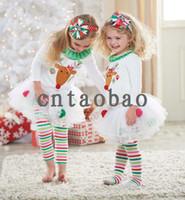Wholesale 2014 new Christmas pc set vestidos de menina vestir childrens suit kids clothing baby girls dress cotton white dress New Year