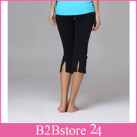 Yoga Capris Sports Inspire Yoga Pants Bottoms Split Straight...