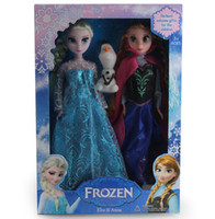 Wholesale Factory Produce Frozen Anna Elsa cute olaf Toys Princess dolls Inch Nice Gift For Kids boys Girls Made in China Christmas gifts MQQ100set