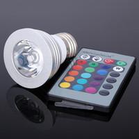 4W E27 RGB del bulbo del RGB LED Downlight Bombilla 16 Color de la lámpara Cambio Spotlight 110V / 220V con mando a distancia IR de las llaves 24 envío gratuito