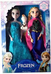 Descuento muñecas de la muchacha Frozen Anna Elsa olaf Juguetes Princesa muñecas 11 Inch Niza Regalo para niños Niñas dhl envío gratis