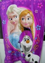 Wholesale 100 cm good quality Raschel Blanket frozen princess queen elsa adventures Frozen cartoon anime raschel blanket