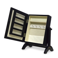 Wholesale Ship from USA Small Mirror Jewelry Armoire Wooden Storage Cabinet For Women Jewelry
