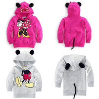 mickey - Baby Girls Boys Kids Cartoon Mickey Minnie Tops Hoodies Coat Outfits Set Clothes DH04