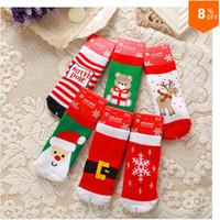 Wholesale 2014 New baby socks boys and girls cartoon short socks children terry thicken warm socks for christmas DHL fast ship