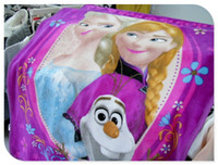 Wholesale Blue Purple Elsa Anna Olaf quot x quot Silk Touch Throw Blanket Soft Girl Frozen Blanket New Arrival Dropship