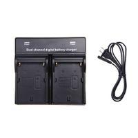 digital camera battery - 2014 Dual AC DC Digital Battery Charger for SONY NP F970 F750 F960 QM91D FM50 FM500H FM55H Battery Camera Black D1338