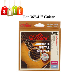 Wholesale High quality Coated Steel Acoustic Guitar Strings Anti rust Light Coated Steel Material Guitar Strings Alice AW43 I395