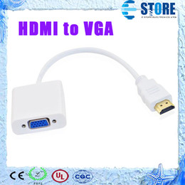 Discount vga female cables High Quality HDMI To VGA Cable Adapter,HDMI To VGA Converter Male To Female With Built-in Chipset,up to 1080p,DHL FREE,wu