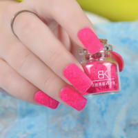 oil color - 24 Color Fashion Bk nail polish oil velvet plush velvet nail art accessories villus nail art DIY nail for party club Nail Art DIY
