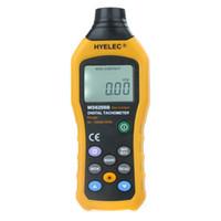 Wholesale HYELEC MS6208B Non Contact LCD Display Digital Tachometer Gauge Test Meter Contagiros De Rpm Air Flow Speedometer H11871