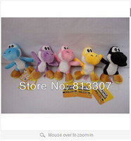 Wholesale 10pcs Soft Plush Super Mario Bros Yoshi Plush Anime quot Keychain yoshi keychain phone chain plush colors