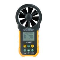 Wholesale HYELEC MS6252B Multifunction Digital Anemometer Air Volume Temperature Humidity Digital Tachometer Air Speed Test Meter H11868