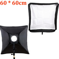 flash light diffuser - Hot Sale cm Speedlite Softbox Diffuser White Cloth Adapter Ring Carrying Bag with Bracket for Camera Flash Light D1367