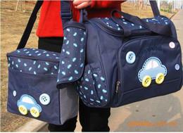 Wholesale 4pcs set Diaper Bags Designer Maternity Nappy Bags Mummy Baby Bag