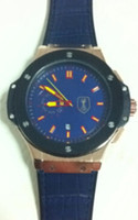 big blue sapphire - lUXURY brand new men watch automatic movement mechanical blue leather band original clasp big bang watches man wristwatch