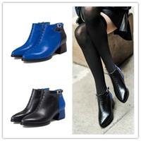 full grain leather - New Style Full Grain Genuine Leather Shoes Woman Boots Italian Boots Woman With Fur Liner Woman Fashion Boots New Arrival