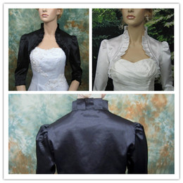 Wholesale 2014 Half Sleeves Satin Bridal Jacket for Wedding Dress Custom Made Cheap Women Ladies Bridal Bolero Wraps Wedding Accessories Coat L37