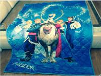 Wholesale 10pcs Frozen Quilts fleece Summer cool quilt Children s Nursery Bedding on the bed Dairy queen elsa adventures quilt girl gifts