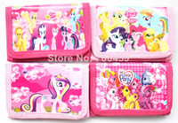 Wholesale Frozen my little pony cartoon wallet change pocket Frozen purse styles mixed