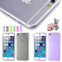 clear iphone case - Hight quality mm thin Clear transparent soft TPU back cover case for iphone