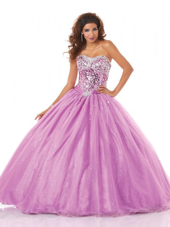 2015 Ssj Purple Tulle Wedding Dresses Silver Sequins