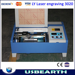Wholesale W LY Digital CO2 Laser Engraving Machine milling Router With USB Connection Infrared Positioning