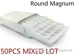 Wholesale 50PCS Disposable Sterilized Tattoo Needles Round Magnum MIXED ASSORTED Needles for complete tattoo kit supply