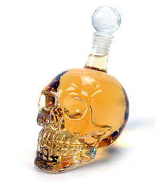 Wholesale 500ml Crystal Skull Head Vodka Shot Glass Beer Bottle Drink Ware Home Bar Party Creative Gift Cup DHL